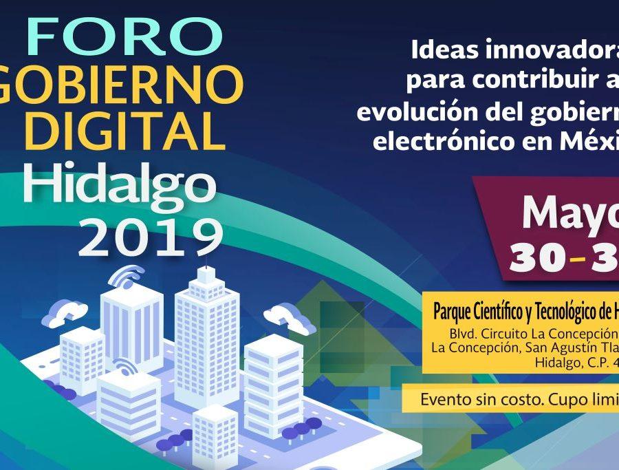Foro Gobierno Digital Hidalgo 2019